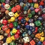 Кубики D4, D6, D8,D10, D12, D15, D20 (поштучно)